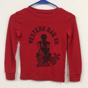 Boys thermal train shirt
